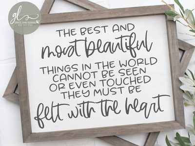 The Best And Most Beautiful Things 💕