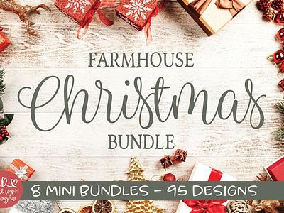 Farmhouse Christmas Bundle 🎄⛄️ farmhouse cricut maker grace lynn designs design bundles craft bundle svg bundle svg