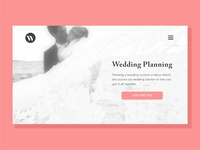 Landing Page for wedding industry