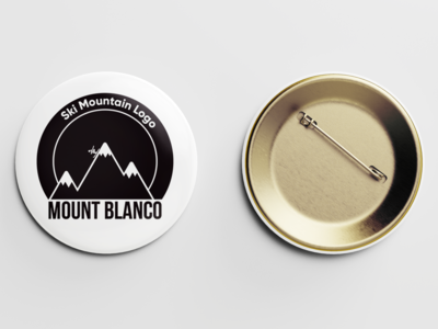 Mount Blanco: Ski Mountain Logo - Day 8 pin mockup minimal ski mountain logo mountains adobe photoshop adobe illustrator vector illustrator illustration branding graphic  design dailylogo 50dailylogochallenge 50daylogochallenge dailylogochallenge design logo