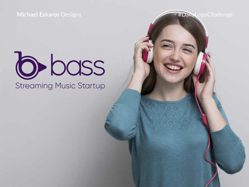 Bass: Streaming Music Startup - Day 9 dance music streaming app meditation dance 50dailylogochallenge dailylogo dailylogochallange music app music player music logo design dailylogochallenge adobe photoshop adobe illustrator illustrator illustration branding graphic  design design logo