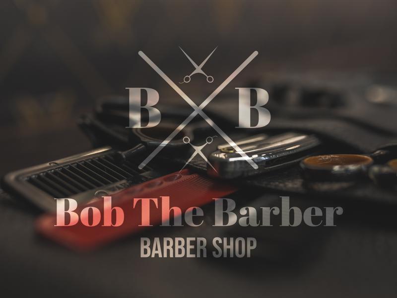 Bob The Barber: Barbershop - Day 13 logoclub logo mark logoconcept logo creator logochallenge logodesign barbershop barber logo barbers barber shop illustration illustrator graphic  design minimal 50dailylogochallenge logo design dailylogochallenge branding design logo