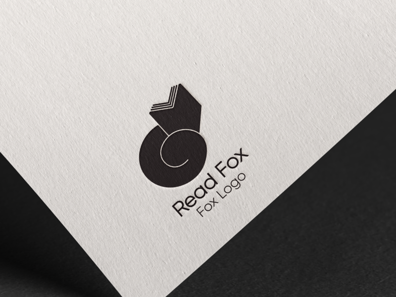 Read Fox: Fox Logo - Day 16 brand identity minimalistic embossing embossed stamp design stamp book cover fox foxy fox logo branding design minimalist logo brand design 50dailylogochallenge minimal logo design dailylogochallenge branding design logo