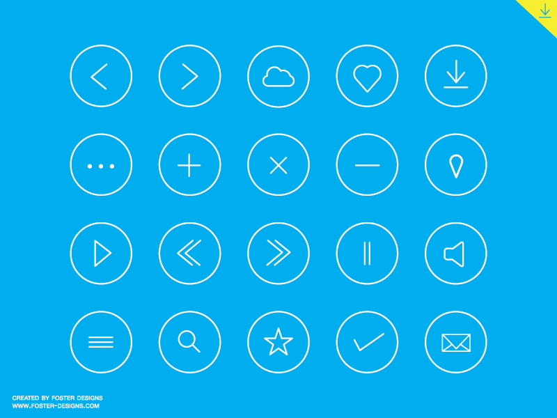 Round icon set - Free Download by Winart Foster on Dribbble
