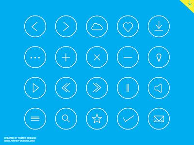 Round icon set - Free Download round icon flat vector