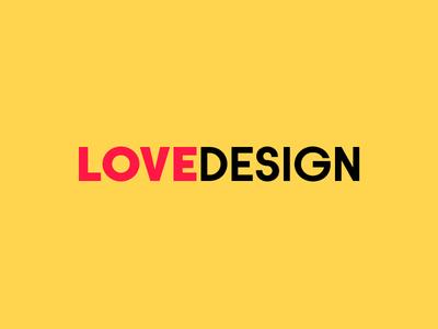Love Design modern clean layout design typography font type