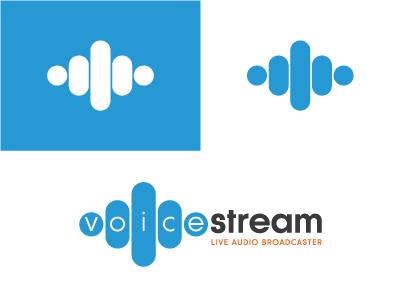 Voice Stream Logo Design creative business font typography illustrator type identity branding logo