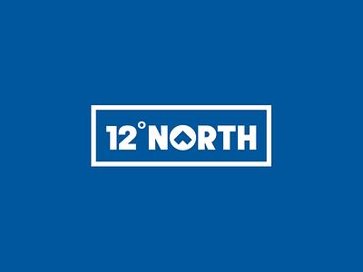 12° NORTH Logo design design identity store typography apparel branding logo