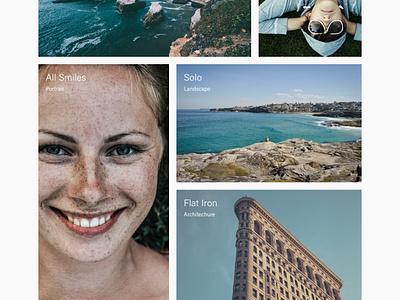 Photography Portfolio minimal masonry grid portfolio photography photo concept web design ux ui