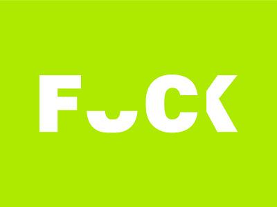F Bomb! feeling logo branding illustrator lettering type