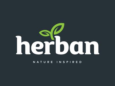 Herban illustrator health brand identity lettering branding design logo