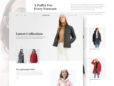 Everlane sketch fashion ecommerce product web landing page concept minimal ui