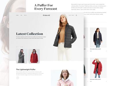 Everlane sketch fashion ecommerce product web landing page concept minimal ui
