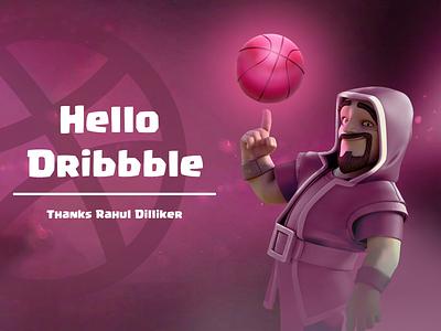 Hello Dribbble! typography vector illustration minimal dribbble dribbble invite design