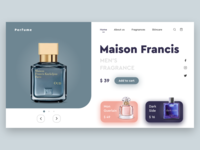 Perfume Website UI Design_2 perfumes perfume landing page web website ui design ui design minimal