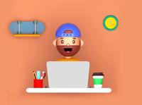 First 3D Work c4d minimal render design designer illustraion character design character 3d 3d art