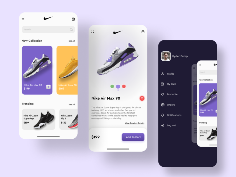Nike App UI Design Concept figma app design product page product design product nike shoes nike air nike shoes app shoe typography app icon ux adobe xd design ui  ux ui design ui minimal