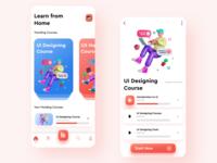 Online Learning App application ui  ux ux ui ui design 3d minimal learning app online learning icon design figma app design app adobe xd