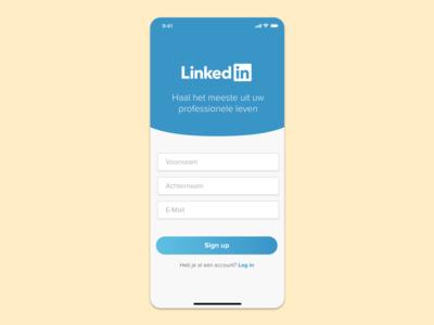 LinkedIn Mobile Sign Up