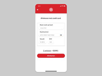 Media Markt pay by creditcard iOS ux ui ecommerce mediamarkt dailyui002 dailyui