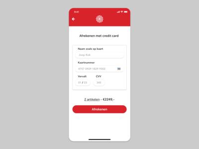Media Markt pay by creditcard iOS