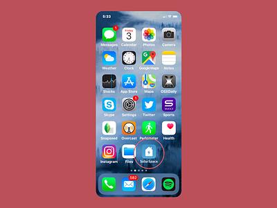 Solar Space App Icon iphone visual icon app dailyui005