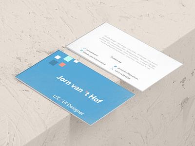 Bussines Card: Jorn van 't Hof card bussines