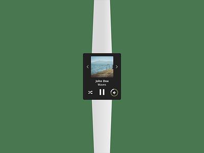 Music control watch controls music watch sketch ux ui dailyui dailyui009