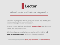 Lector pre-launch page