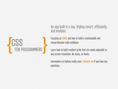 CSS for programmers css website