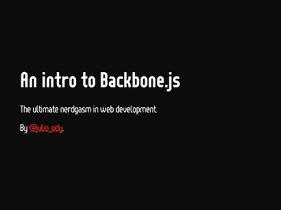 My intro presentation on Backbone.js  presentation javascript effect