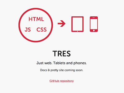 Tres website mobile javascript backbone.js