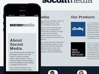 Socom Media Microsite