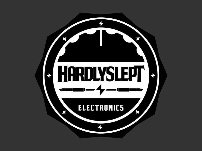 Hardlyslept Badge badge emblem music