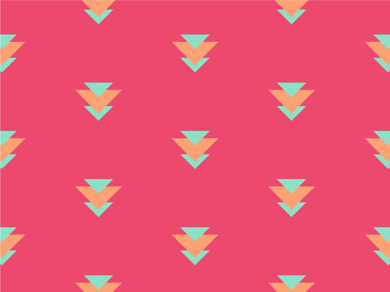 Fiery Fiesta geometry pattern colors cool warm triangle