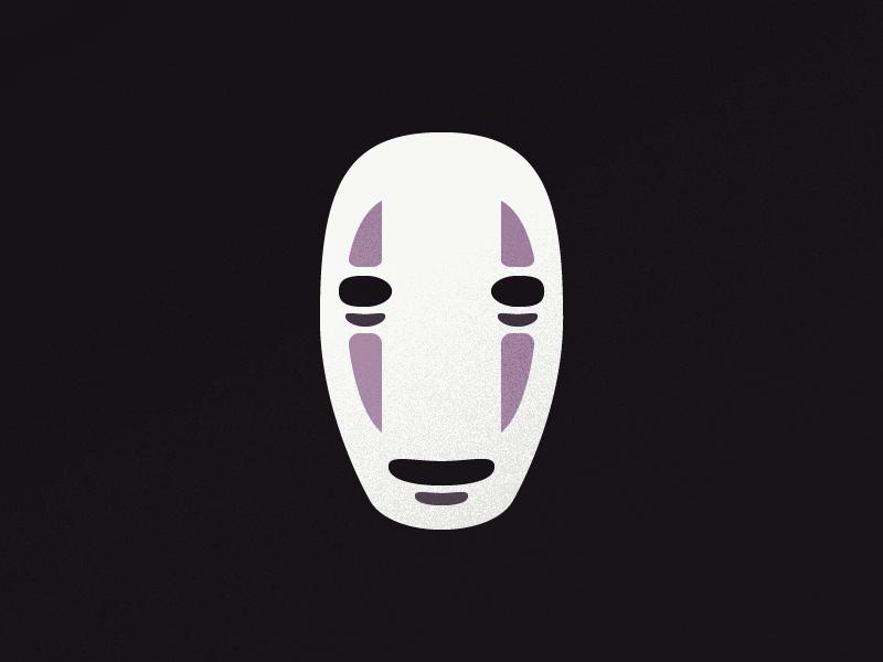 No Face texture pepper salt anime art fan movie miyazaki away spirited face no