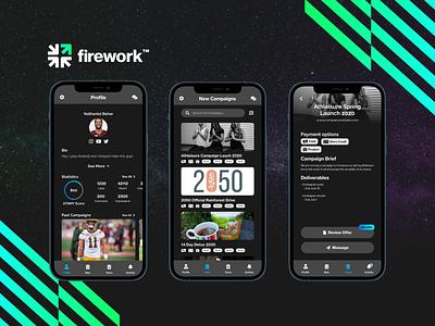 FireWork Mobile App ux app design ui