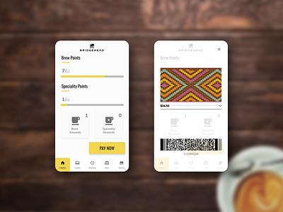 Bridgehead Mobile App Redesign coffee coffee app ux mobile app ui