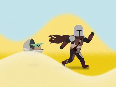 Mandalorian Chase mandalorian starwars vector animation motion graphic