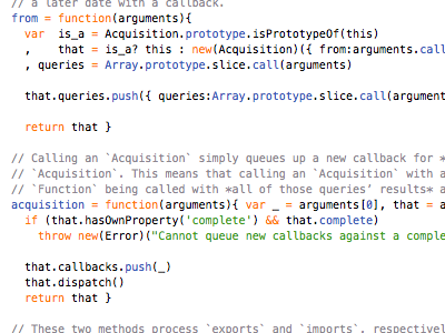 Sectioning. text javascript source code