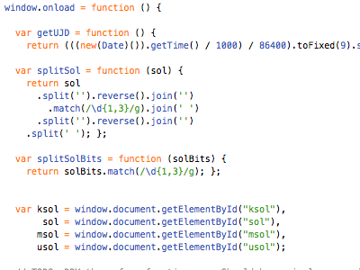 The Bit That Looks Like A Starship text javascript dom source code