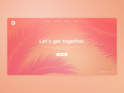 Pop of color / Landing page