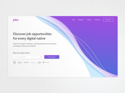 Digital Jobs Landing page / #DailyUI 003