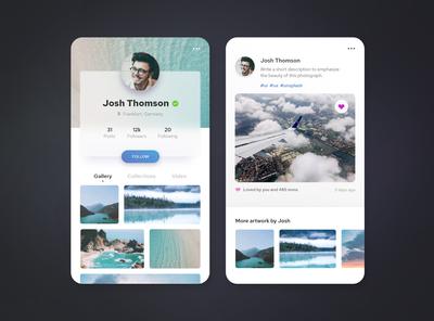 Social media profile / DailyUI #6