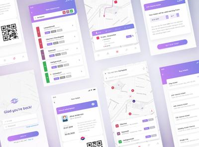 Vienna public transport app / redesign concept #2