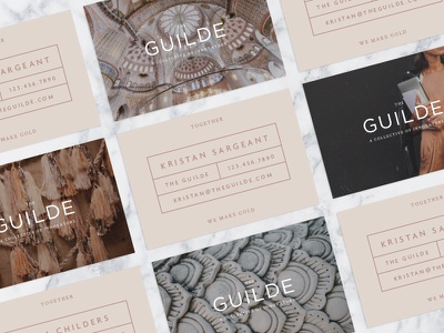 The Guilde Business Cards typography pastel design layout print identity design branding