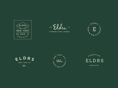 Elders Logo Exploration type typography script badge logo brand identity design branding