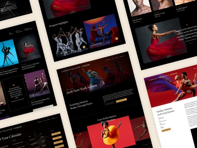 Dance Theatre of Harlem Website Design design system web design agency barrel agency new york graphic design dance website design design