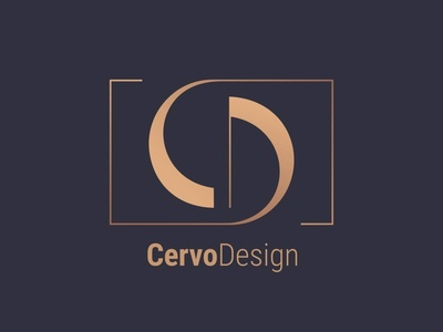 Cervo Design. Logo for interior design company