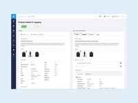 Product detail & mapping dashboard.
